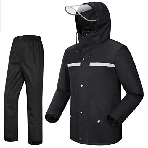 Rain Suit Waterproof Set Rain Suit Men's Motorcycle Rainwear Lightweight Raincoat Waterproof Breathable Fishing Jackets Outdoor Sports Rowing Cycling Lightweight Rain Jacket