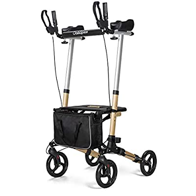 OasisSpace Lightweight Upright Walker- Stand up Rollator Walker with Forearm Support for Senior