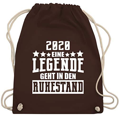 Shirtracer Sonstige Berufe - 2020 - Eine Legende geht in den Ruhestand - Unisize - Braun - Eine Legende geht in den Ruhestand - WM110 - Turnbeutel und Stoffbeutel aus Baumwolle