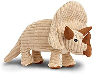 Rocco & Roxie Plush Squeak Toy for Dogs - Cute Dinosaur Shapes (Choose Brontosaurus, Triceratops, or T-Rex)