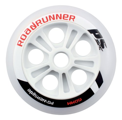 Powerslide Rollen Pu Wheel Roadrunner, Weiß, 150mm