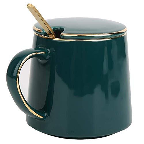 Taza de té de cerámica con cuchara de mango largo Cuchara de...