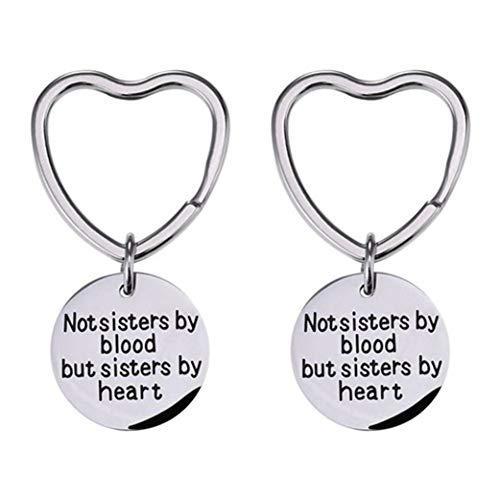 Clyine 2Pcs Good Friend Keychain Perfekte Freundschaftsgeschenke Für Frauen Teenager Mädchen Schwestern