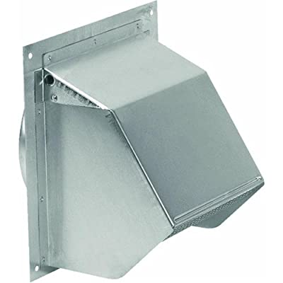 """Broan 641 Wall Cap for 6"""" Round Duct for Range Hoods and Bath Ventilation Fans, 6"""", Aluminum"""