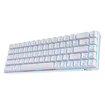 RK ROYAL KLUDGE RK68 Hot-Swappable 65% Wireless Mechanical Keyboard 60% 68 Keys Compact Bluetooth Gaming Keyboard with Stand-Alone Arrow/Control Keys Quiet Red Switch