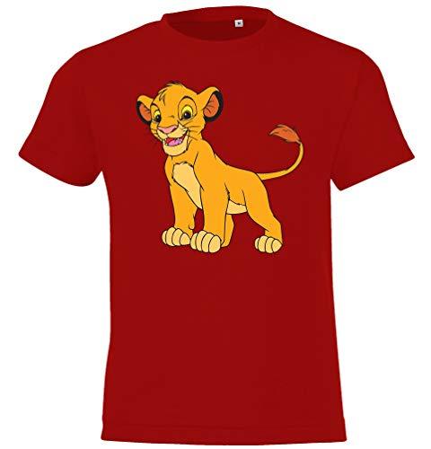Youth Designz Maglietta da bambino modello König Simba Colore: rosso 8 anni