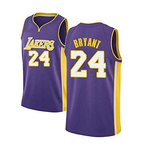 Bryant Men's Jerseys Laker, Negro Mamba # 8 2021 New Temporada Baloncesto Uniforme Camiseta Bordado Sports Chaqueta Chaleco Vestido Transpirable Sudadera (S-XXL) L