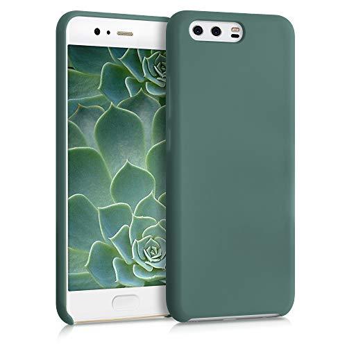 kwmobile Carcasa Compatible con Huawei P10 - Funda de Silicona para móvil - Cover Trasero en Azul Verdoso