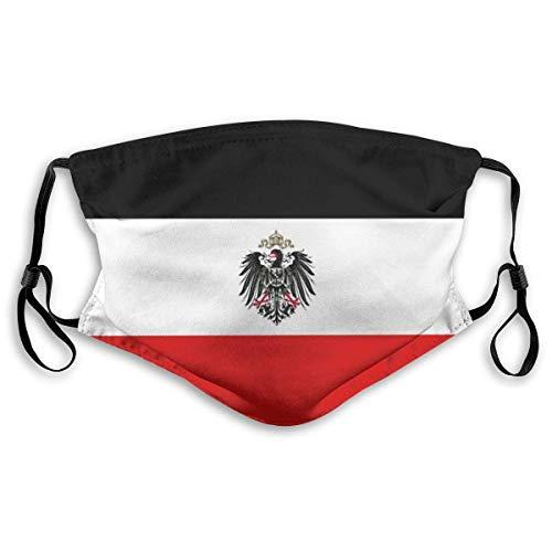 DongZhiYuanV Bequeme Flagge des Deutschen Reiches, Bedruckte Gesichtsdekorationen für Erwachsene Männer, Senioren und Jugendliche im Freien, staubdicht, Winddicht
