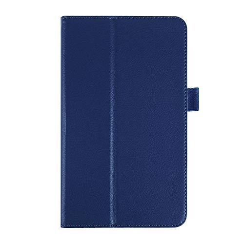 Per LG G Pad 8.0 V480 V490 Custodia Cover Solid Filp Litchi Cover posteriore in pelle protettiva per LG G Pad V480 Custodia 8.0 pollici-Marina Militare