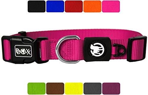 DDOXX Hundehalsband Nylon in vielen Farben & Größen für kleine & große Hunde | Halsband Hund Katze Welpe | Katzenhalsband klein |...