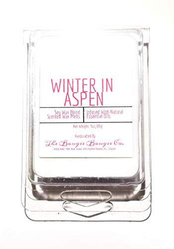 The Bougie Bougie Co | Winter In Aspen | Clean Strong Scented Luxury Wax Melts| 3oz-6 cubes-1 Pack