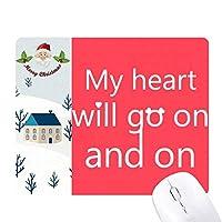 胸が立つ サンタクロース家屋ゴムのマウスパッド