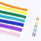 Xuccus Alipress 20Meters/lot 5# Nylon Coil Zippers for DIY Sewing Home Textile Tailor Accessories 22 Colors Available - (Color: Purple, Size: 5#)