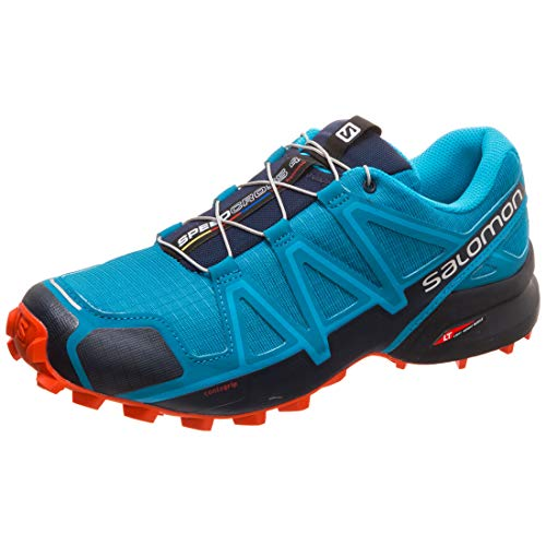 SALOMON Herren Speedcross 4 Traillaufschuhe, Blau (Fjord Blue/Navy Blazer/Cherry TOMAT), 46 EU