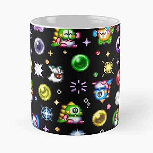 Lapuan Kankurit Puzzle Bub Dragons Bubble Bobble Best 11 oz Kaffeebecher - Nespresso Tassen Kaffee Motive