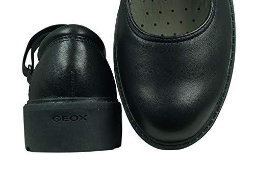 Geox Girl's J Casey Girl P Ballet Flats, Black, 2.5 UK