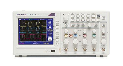 Tektronix TDS2014C osciloscopio, almacenamiento digital, 100 MHz, 2GS/S, 4 canales, pantalla TFT a color, puertos USB