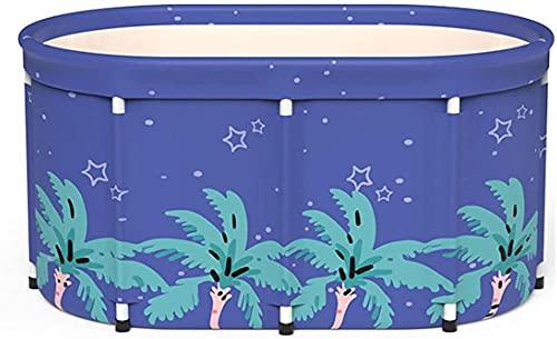 GL-GDD Bañera de masaje portátil para adultos, bañera plegable para el hogar, bañera de spa, fácil de almacenar, aislamiento del hogar para bebés y adultos con barril termostático + bolsa