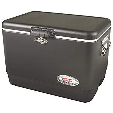 Coleman Steel-Belted Portable Cooler, 54 Quart, Black