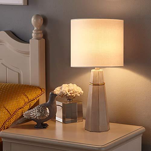 KK Timo Lámpara de mesa pequeña nórdica, sencilla y moderna, lámpara de noche para dormitorio, creativa, regulable, luz cálida, 23 x 47 cm (mando a distancia) (color: B)