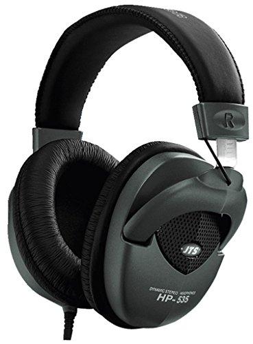JTS HP-535 professioneller Studio-Monitor-Kopfhörer mit gepolstertem Ohr-Kissen und Kopfauflage, Over-Ear Headphone mit hervorragender Klang-Qualität in Schwarz