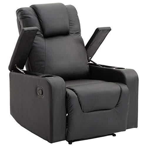 XYAN Multifunktion Einstellbar Sanft Komfortabel Liege Sofa Sessel, Massagesessel, Loungesessel, Fernsehsessel, Schwarzer Stuhl, Bequemer Stuhl, Geeignet Für Schlafzimmer, Haus, Wohnzimmer, Büro