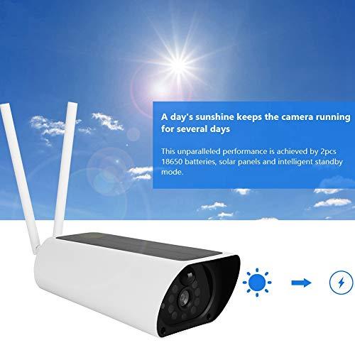 Zonne-IP-camera, 4G Zonne-aangedreven 1080P IP-camera Outdoor Waterdichte CCTV Nachtzicht Surveillance Beveiligingscamera (EU)