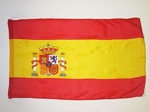 AZ FLAG Flagge Spanien 90x60cm - SPANISCHE Fahne 60 x 90 cm Scheide für Mast - freiner Polyester flaggen