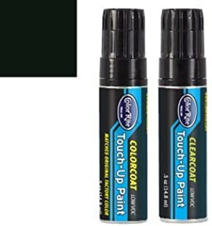 ColorRite Half-Ounce Jar Automotive Touch-up Paint for Ford All - Raven Black A (1967) - Color+Clearcoat Package