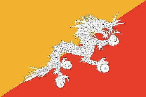 Bhoutan-haute en chine-dimensions : 8,4 x 5,4 cm -- -- forme de stickers autocollants pour voiture avec laminé et finition -- -- fabriqué en allemagne, longue durée de vie !