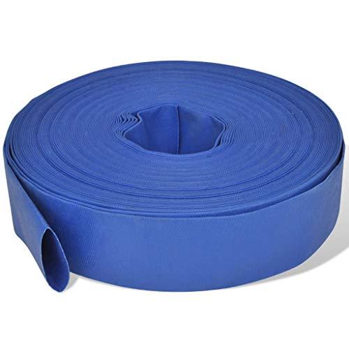 "vidaXL Manguera Plana Suministro de Agua de PVC 50 m 2\"" Azul Goma contra Fuego"