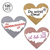 Kesote 120 Etiquetas Pegatinas para Rascar Tarjeta Rasca Adhesivas para Sorpresa Pegatinas Corazón Oro Plata Rosa