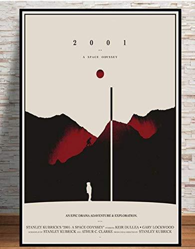 DPFRY Leinwand Bild Poster Und Drucke Hot 2001 A Space Odyssey Film Pop Retro Anime Malerei Wand Leinwand Wandbilder Für Wohnzimmer Home Decor Kx22Y 40X60Cm No Frame
