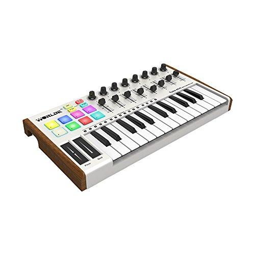 ammoon Worlde Panda mini Portable Mini 25-Key USB Keyboard and Drum Pad MIDI Controller (Type 3)