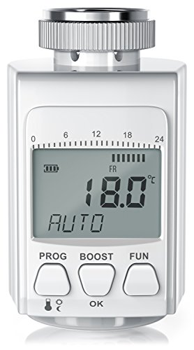 CSL - digitales Heizkörperthermostat - bis zu 30% Heizkosten Ersparnis - Radiator Thermostat Regler - intelligenter Eco Boost-Modus