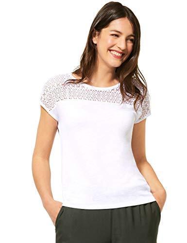 Street One Damen 315109 T-Shirt, White, 42