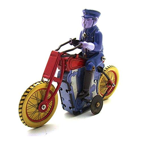 FSLLOVE FANGSHUILIN Retro Regali Vintage Collection Tin Toys Classico Movimento a orologeria Up Moto Tin Toys con Chiave Regalo for i Figli Adulti di Natale