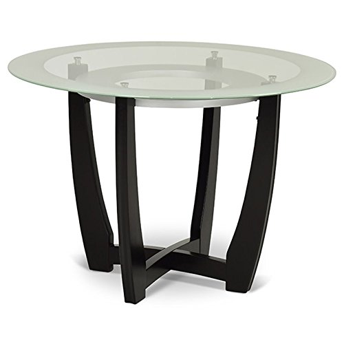 "Steve Silver Verano 45"" Round Glass Top Dining Table in Espresso"