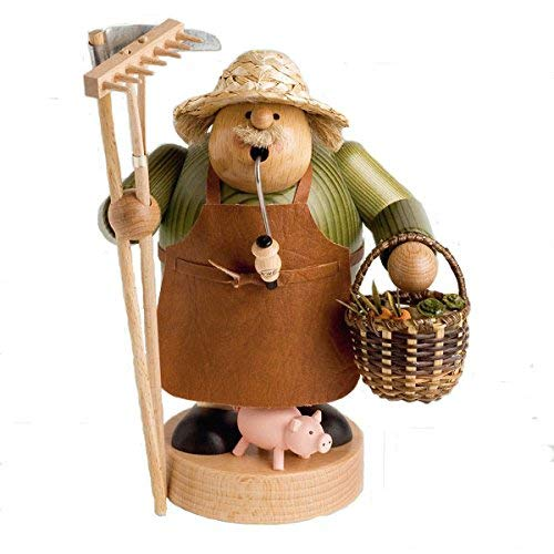 KWO Farmer Smoking Man Figurine, Multi-Colour, 21 cm, Pack of 2