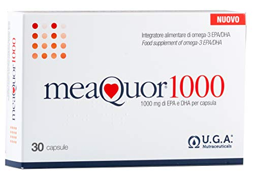 U.G.A. Nutraceuticals Meaquor 1000 - Complemento Alimenticio, 1000 mg de EPA y DHA por cápsula, 30 Cápsulas