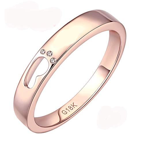 Ubestlove Rose Gold Wedding Band Men Footprint Ring 60Th Birthday Gifts For Women Keepsake H 1/2