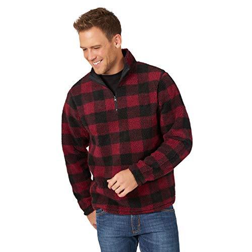 Wrangler Men's 1/4 Zip Sherpa Pullover
