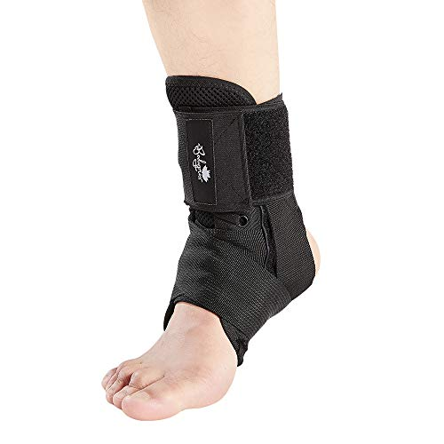 Ankle Brace for Women and Men, Lace Up Ankle Support Brace Stabilizer For Sprained Ankle (Large)