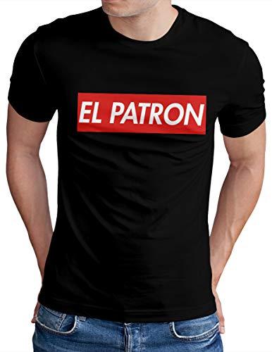 OM3® EL Patron T-Shirt - Herren - Pablo Cocaine Icon Drug Lord - Schwarz, M