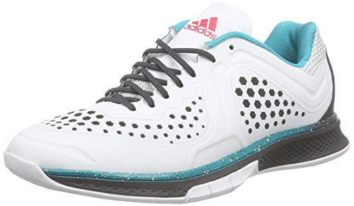 adidas Performance Damen Adizero Counterblast 7 Handballschuhe, Weiß (Crystal White S16/Dgh Solid Grey/Shock Red S16), 36 2/3 EU