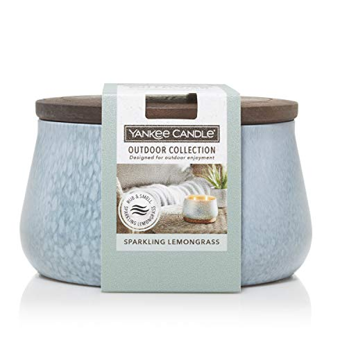 Yankee Candle Sparkling Lemongrass Large Outdoor Candle