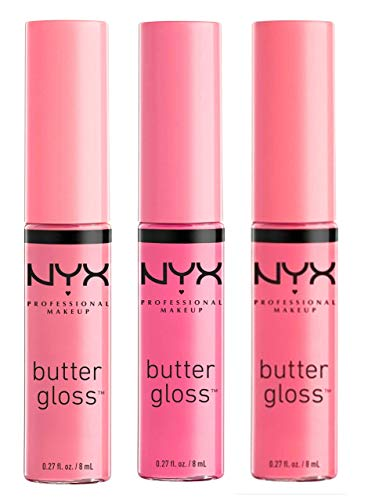 NYX Cosmetics Butter Lip Gloss, Eclair, Merengue & Vanilla Cream Pie - Pink 1 Collection