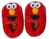 Sesame Street Elmo Slippers, Easy Slip On Plush Slippers (5-6 M US Toddler, Red Full Body Elmo)