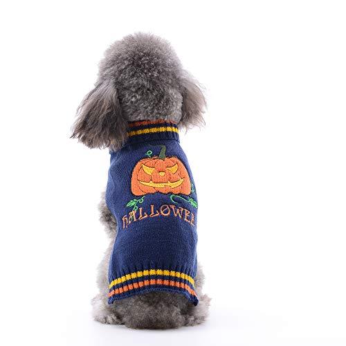 Dogyzstyle Halloween-pompoen hond pullover huisdier kostuum fashion vakantie party puppy cadeau voor honden en katten, XXS